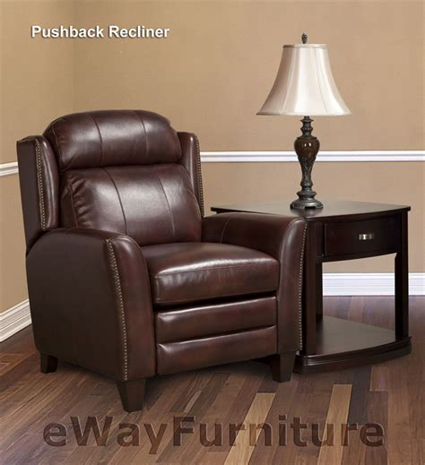 pushback recliner parker living darwin pushback recliner in umber