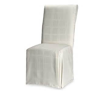 Dining Room Chairs Bed Bath And Beyond Origins Microfiber Dining Room Chair Cover In Bone Bed