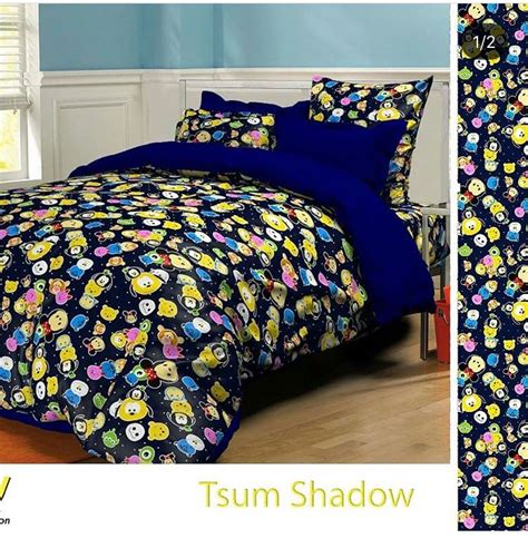 Sprei Bahan Katun Grow Uk 180 200 20 20 detail product sprei dan bedcover tsum shadow dongker