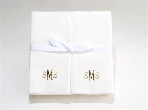 monogrammed disposable hand towels for bathroom personalized linen like paper disposable guest hand