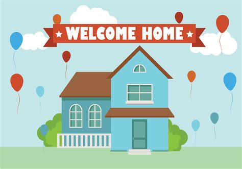 home background flat vector