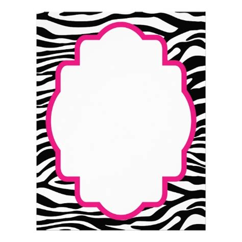 Animal Print Birthday Card Template by Zebra Print Border Template Cliparts Co