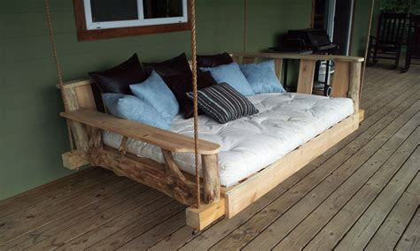 swinging beds fancy porch swing bed by godsrusticworkshop