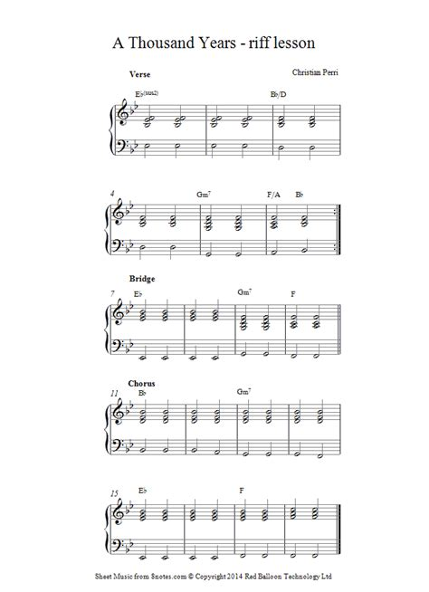 tutorial keyboard a thousand years christina perri a thousand years sheet music for piano