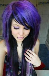 black n purple hair blue purple and black hair a little bit of everything