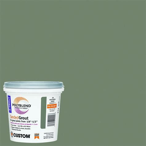 custom building products polyblend 09 natural gray 1 lb
