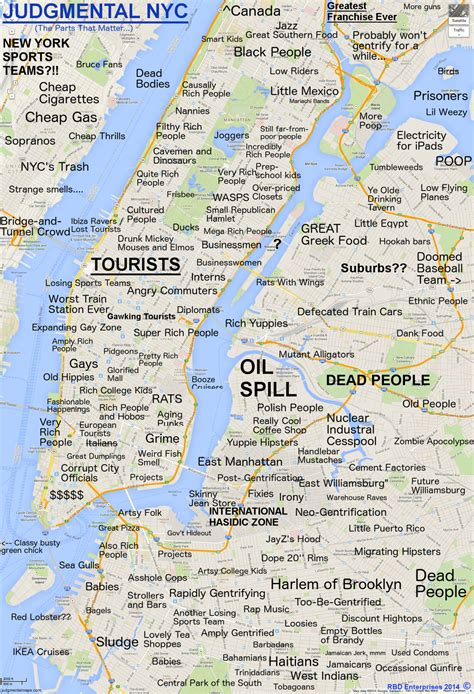 Judgmental Maps New York Ny The Parts That Matter By