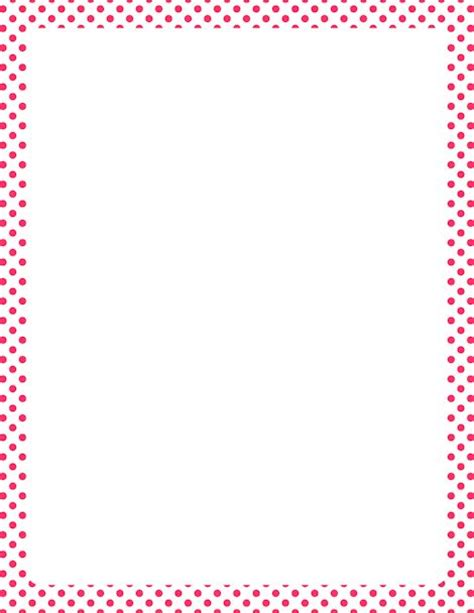 printable polka dot border paper printable pink and white polka dot border free gif jpg