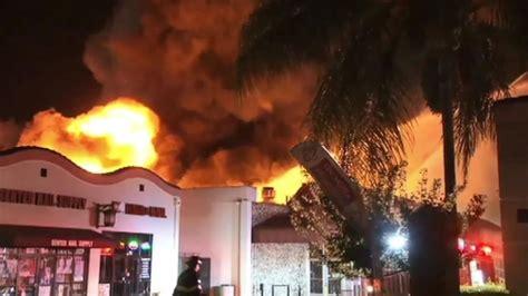 san jose crews battling 4 alarm grocery store