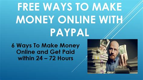 Free Ways To Make Money Online - free ways to make money online paypal youtube