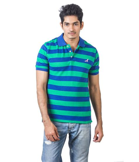 American Stripe Polo Shirt Sz S 7xl american crew green blue half sleeves stripe polo t shirt buy american crew green blue