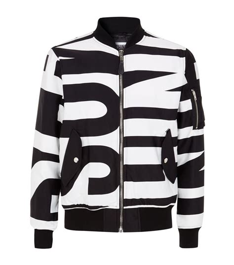 Moschino Bomber Jacket moschino all print bomber jacket in black for lyst
