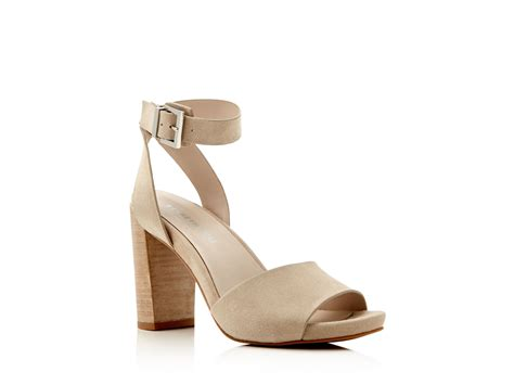 kenneth cole high heels kenneth cole toren suede ankle high heel sandals in