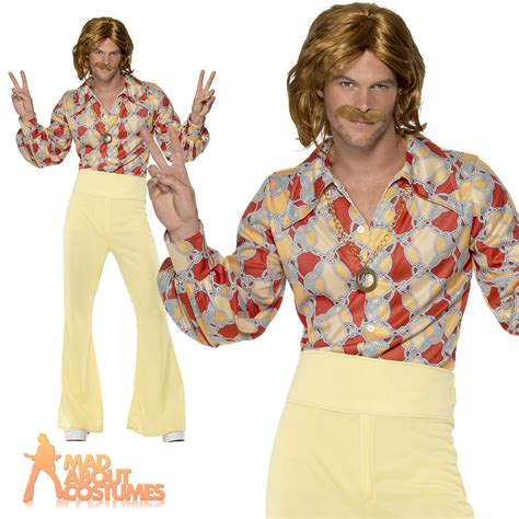 60 age men dress groovy guy 60s 70s costume disco mens abba hippie flares