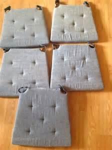 lot de 6 galettes dessus de chaise ecru imprim 233 destockage