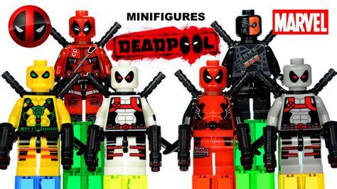 Lego Superheroes Minifigures Deathstroke deadpool minifigures x marvel heroes lego