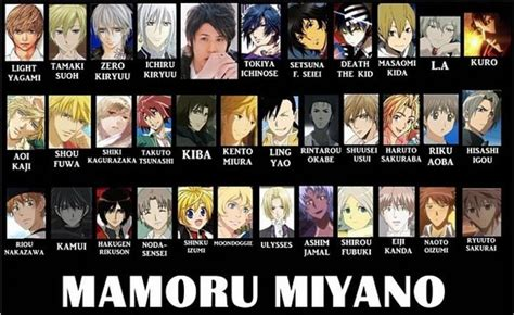 B Anime Voice Actors by Mamoru Miyano Best Voice Actor Of Course Tamaki That
