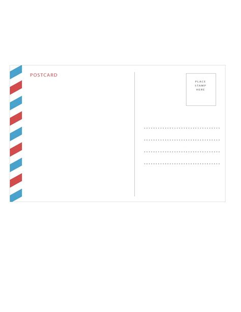 Templates For Postcards by 40 Great Postcard Templates Designs Word Pdf