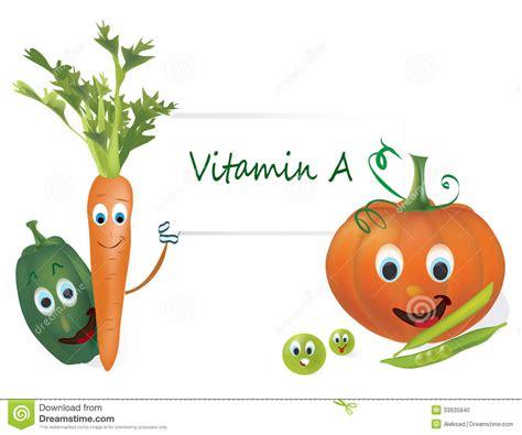 vegetables w vitamin d vitamin a vegetables stock vector image of illustration
