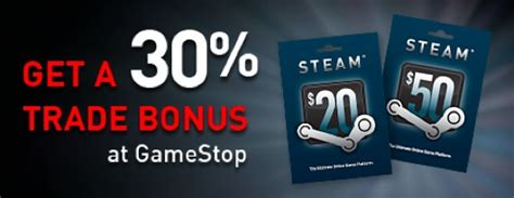 Trade Gamestop Gift Card - gamestop offering bonus trade in credit toward steam gift cards