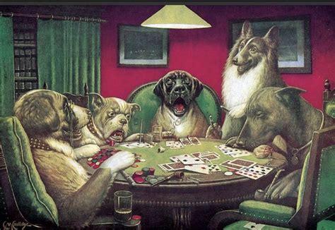 imagenes de animales jugando poker a arte dos cachorros jogando p 244 quer el hombre