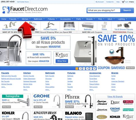 kitchen cabinet hardware com coupon code faucet direct kitchen coupon code