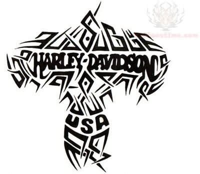 Harley Davidson Tattoos Tribal by Harley Davidson Tribal Design