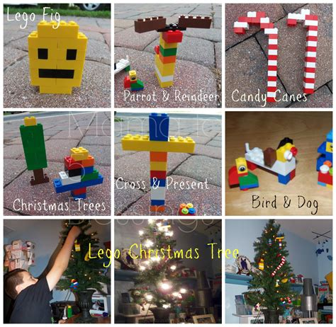 homemade lego ornaments their lego christmas tree