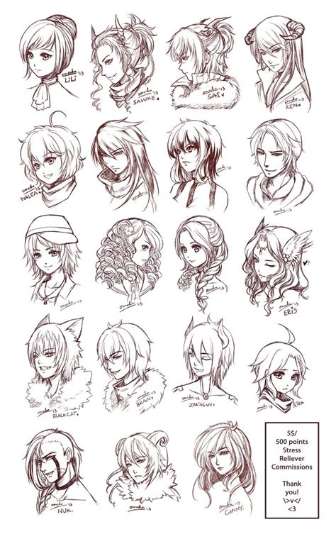 doodle drawing style best 25 anime hairstyles ideas on anime