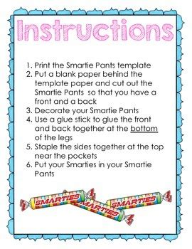 quot smartie quot smarty pants reward template by kearson s
