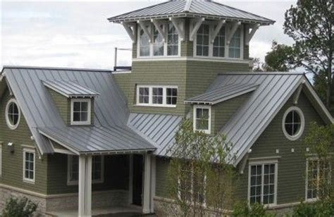 homes with silver metal roofs metal roofing garden michigan lakehouse metals