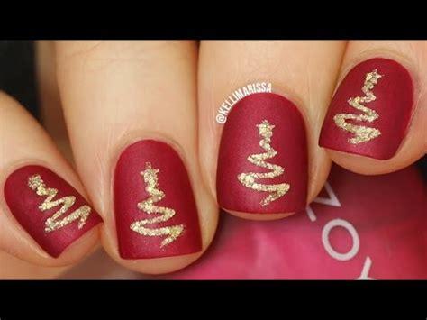 easy christmas nail art youtube easy elegant textured christmas tree nail art diy tutorial