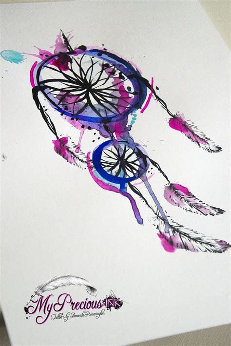 watercolor tattoo dreamcatcher watercolor dreamcatcher i n k watercolors