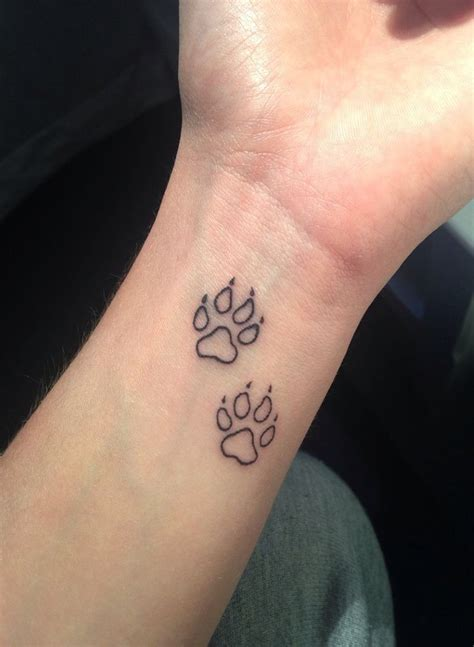 small paw tattoo best 20 wolf paw tattoos ideas on wolf print