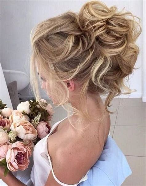 beautiful high bun wedding hairstyles 2017 2701146 weddbook