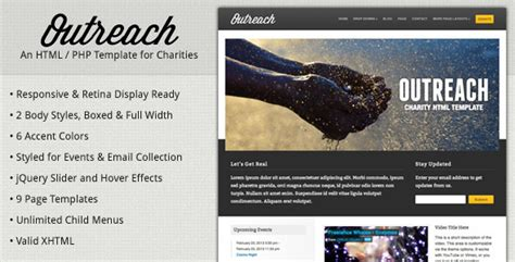 17 Charity Html Website Templates Free Premium Download Outreach Plan For Non Profit Template