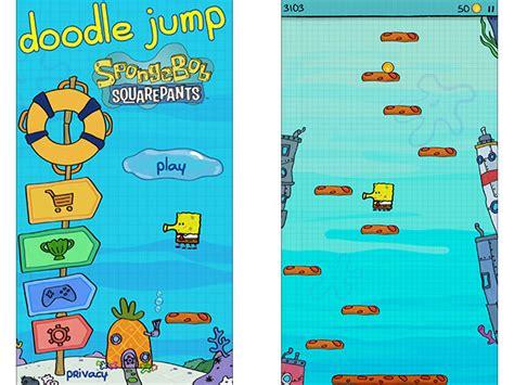 doodle jump spongebob squarepants apk 今週のapp スポンジ ボブとコラボしたジャンプゲーム doodle jump spongebob