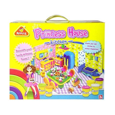 Mainan Play Dough jual mtoys princess house kitchen play dough mainan lilin anak harga kualitas
