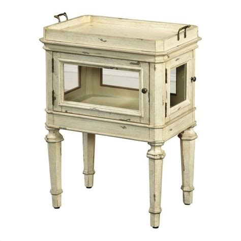 pulaski accents side table in black 641065 pulaski accents side table in antique white 641066