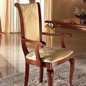 sedie classiche di lusso sedia imbottita con braccioli essenziale e