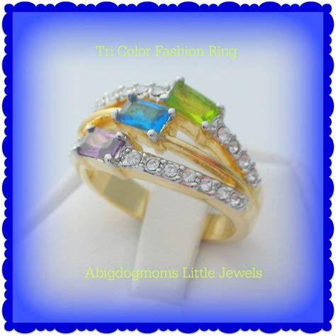Bross Import Blue Teardrops Zircons Fashion peridot amethyst blue fashion ring size 9 rings