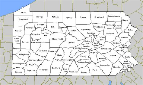 map of pa counties pennsylvania map with counties