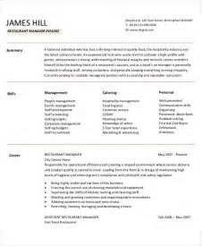 Restaurant Manager Resume Exles Sles 54 Manager Resumes In Pdf Free Premium Templates