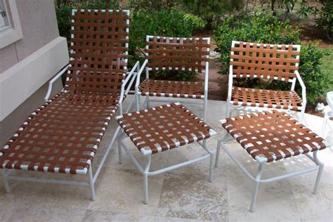 Repair Webbing On Patio Chair Vinyl Strapping Replacements On Tropitone Cantina Patio