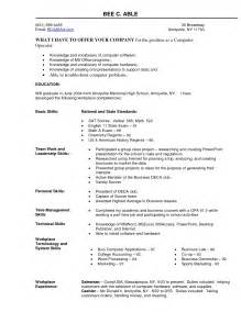Resume Qualifications Computer Skills Sle Resume Personal Profile White Paper Template Free