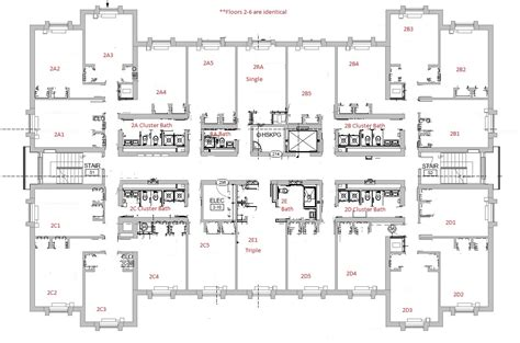 dorm floor plans salisbury university cus housing residence life