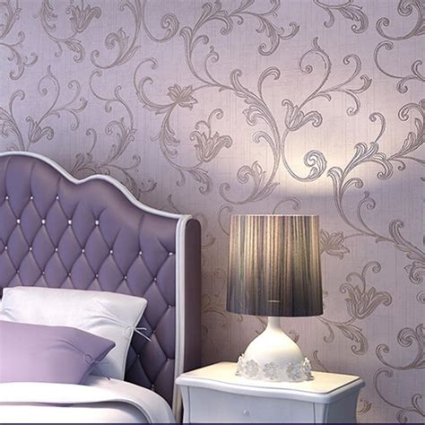 luxury wall stickers luxury damask embossed textured nonwoven wallpaper roll wall stickers ebay