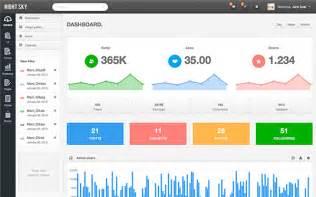 night sky responsive admin bootstrap admin templates
