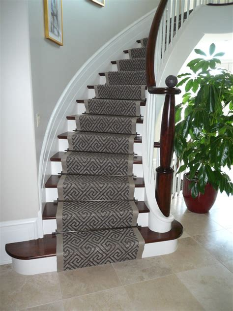 Decorative Ideas For Kitchen by Curving Stair Runner Modern Staircase Ottawa By