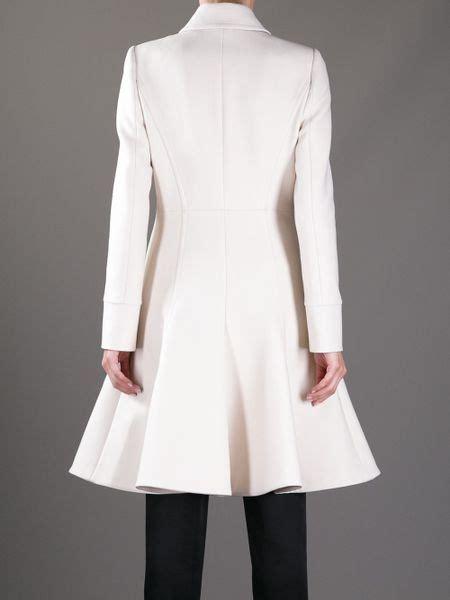 Flared Sleeve Trench Mango n 176 21 flared hem trench coat in white ivory lyst